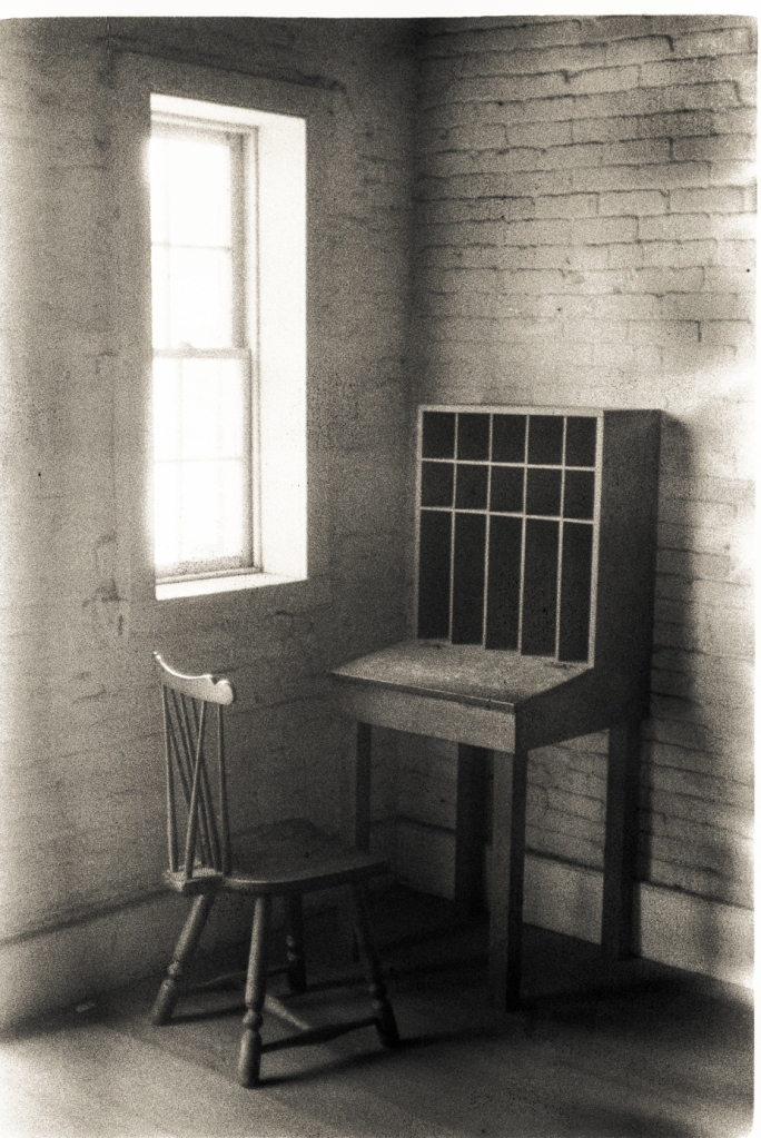 Guard desk in the brig -- Fort McHenry, Maryland (April 2015)Leica IIIf + Arista 100 + Leica Summicron 50mm f/2.0